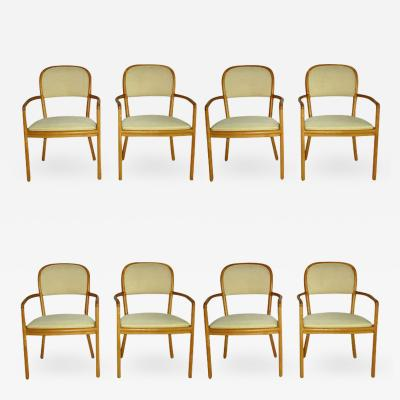Ward Bennett Ward Bennett for Brickel Associates Eight Ash Dining Chairs circa 1970