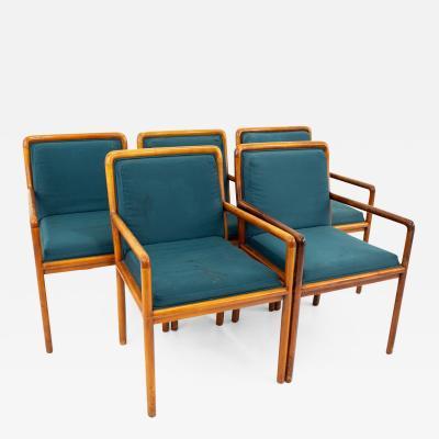 Ward Bennett for Brickel Associates Mid Century Armchairs Set of 5