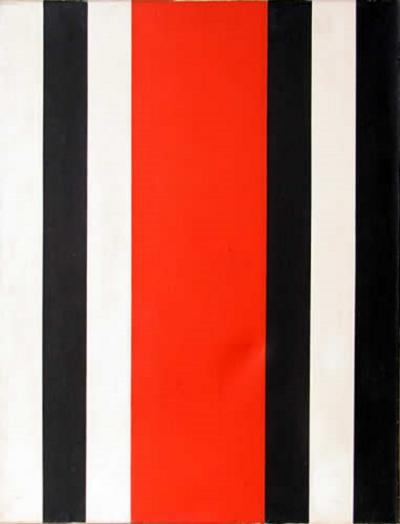 Warner Friedman Red Black and White Stripes