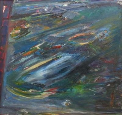 Warren Fischer Abstract Acrylic on Canvas by Warren Fischer American 1943 2001
