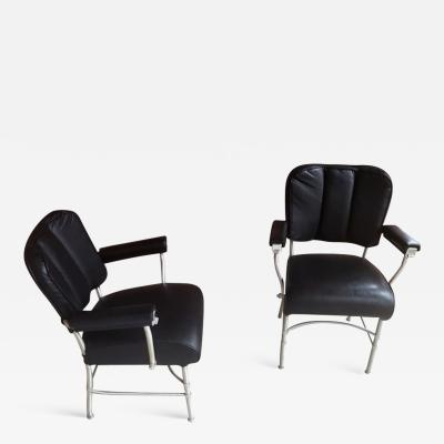 Warren McArthur Pair Armchair Warren McArthur Rare Model with Hidden Ashtrays