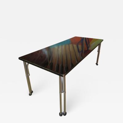 Warren McArthur Unique Warren McArthur Stainless Steel Library Table 1934 35