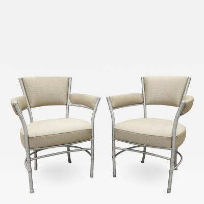 Warren McArthur Warren McArthur Pair of Lounge Chairs in Tubular Aluminum 1930s signed