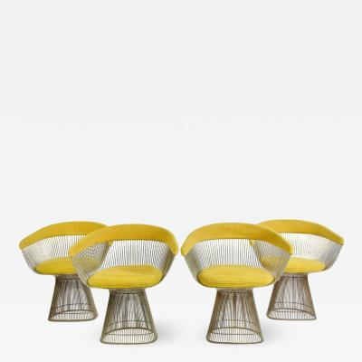 Warren Platner 1960s Vintage Warren Platner Dining Chairs Set of 4