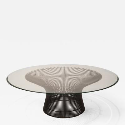 Warren Platner Early Warren Platner Coffee Table in Bronze by Knoll 1966