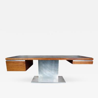 Warren Platner Executive Desk by Warren Platner in Walnut for Lehigh Leopold