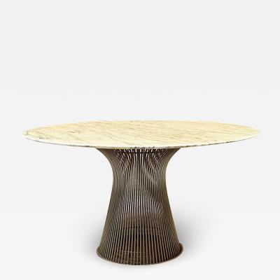 Warren Platner Marble and metal dining table by Warren Platner for Knoll 1970s
