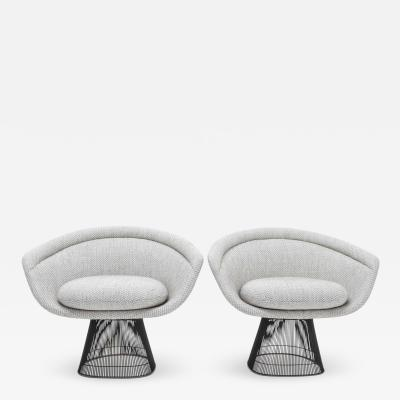 Warren Platner Pair of 1960s Bronze Warren Platner Lounge Chairs