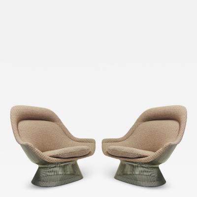 Warren Platner Pair of Vintage Lounge Chairs by Warren Platner