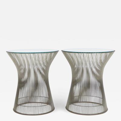 Warren Platner Pair of Warren Platner Side Tables for Knoll International