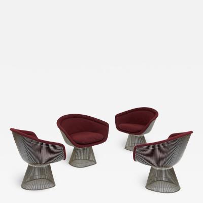Warren Platner Set of Four Chairs by Warren Platner