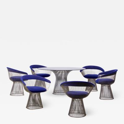 Warren Platner Set of Wire Dining Table and Six Chairs by Warren Platner for Knoll