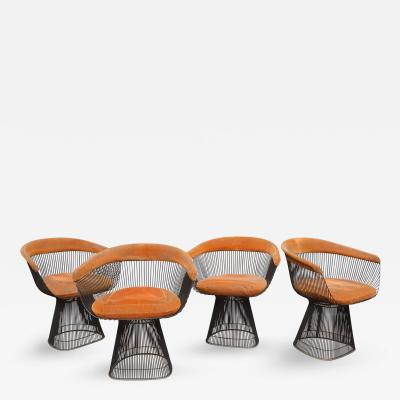 Warren Platner Warren Platner Bronze Dining Chairs for Knoll