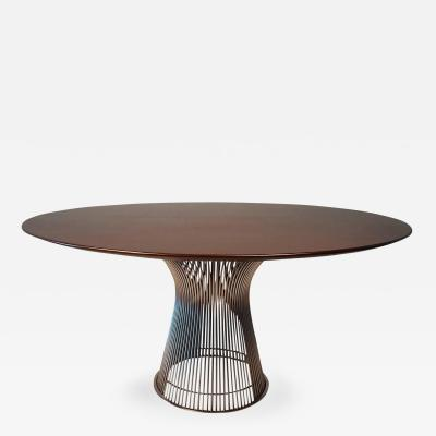Warren Platner Warren Platner Dining Table in Dark Walnut