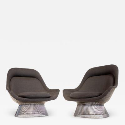 Warren Platner Warren Platner Easy Chair for Knoll in Original Wool High Back Lounge 1970s