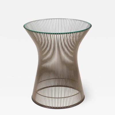 Warren Platner Warren Platner Glass and Chrome Side Table for Knoll