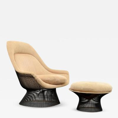 Warren Platner Warren Platner Lounge Chair and Ottoman