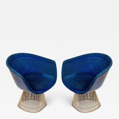 Warren Platner Warren Platner Lounge Chairs for Knoll in Original Fabric USA 1960s
