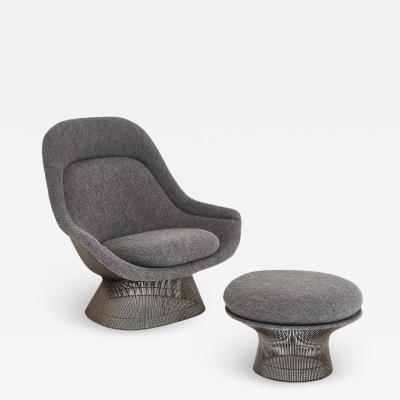 Warren Platner Warren Platner for Knoll Lounge Chair With Ottoman