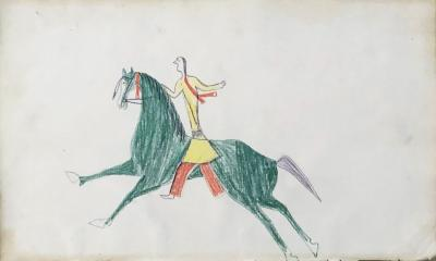 Warrior on a Green Horse