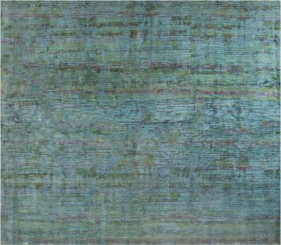 Water Lily Pond Silk Rug