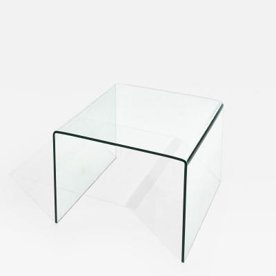 Waterfall Glass End Table 1980