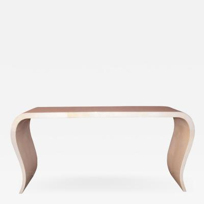 Waterfall Parchment Console Table