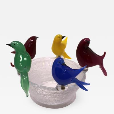 Wave Murano Glass Bird Bath by Wave Murano Glass