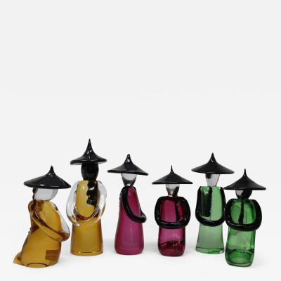 Wave Murano Glass Chinese Statues in Murano Glass
