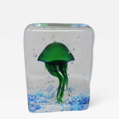 Wave Murano Glass Jellyfish Aquarium in Murano Glass
