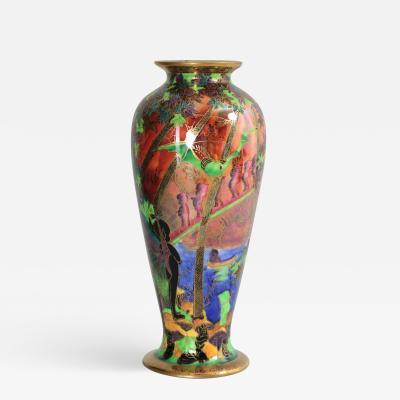 Wedgwood Fairyland Flame Lustre Imps on Bridge Vase
