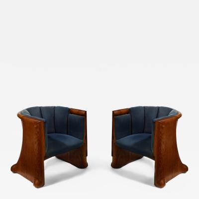 Wendell Castle Pair of Rare Chairs