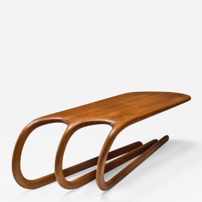Wendell Castle Studio furniture American Craft Coffee Table in the style of Wendell Castle