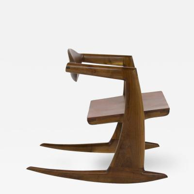 Wendell Keith Castle Wendell Castle Inspired Walnut Rocking Chair