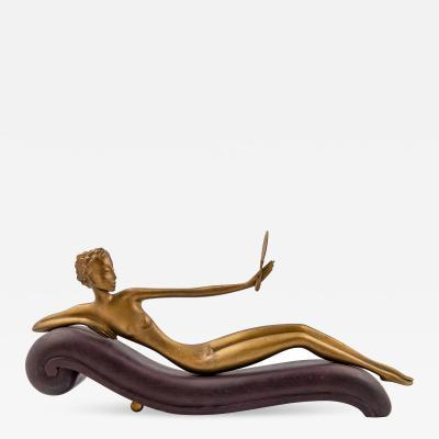 Werkst tte Hagenauer Werkstatte Hagenauer Female Nude on Wood Stamped ca 1928