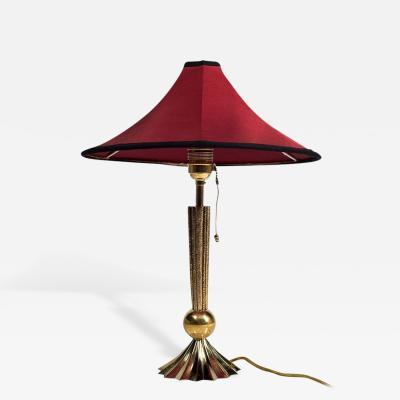 Werkst tte Hagenauer Werkstatte Hagenauer Red Table Lamp mid 1920s