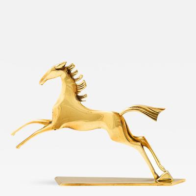 Werkst tte Hagenauer Werkstatte Hagenauer Vienna Galloping Horse Brassca 1940 marked Art Deco