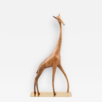Werkst tte Hagenauer Werkstatte Hagenauer Vienna Giraffe Marked ca 1950