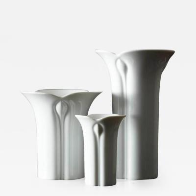 Werner Bu nck Set of Three White Porcelain Vases by Werner Bu nck for Arzberg Corso Cnospa