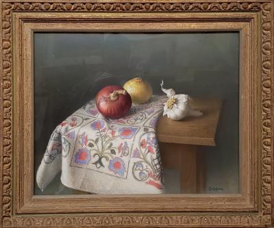 Werner Emil Groshans Still Life Pastel Painting by Werner Groshans
