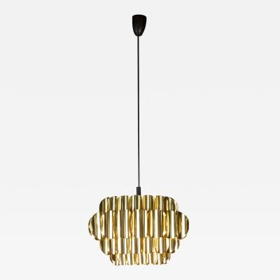 Werner Shou Stylish Brass Hanging Light by Werner Shou for Coronell
