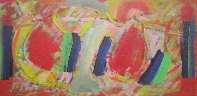 Wesley E Johnson Emotive Abstract by Wesley Johnson