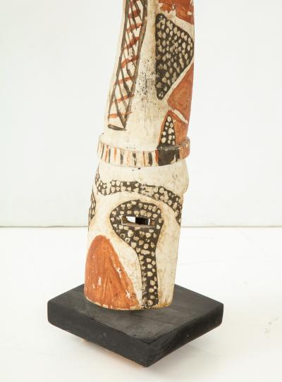 West African carved and painted fertility mask