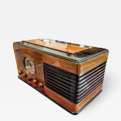 Western Air Patrol 76 Bluetooth Restored Vintage Art Deco Radio