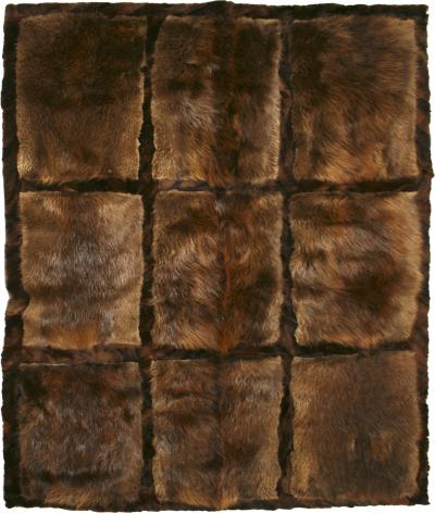 Western European Natural Otther Fur Rectangular Rug France 1970s