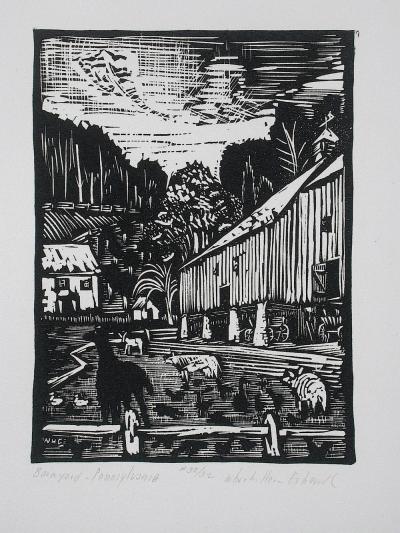Wharton Esherick Barnyard Pennsylvania 1924