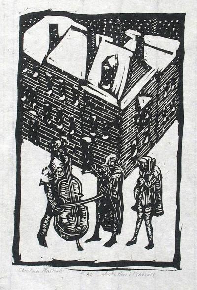 Wharton Esherick Christmas Minstrels 1923