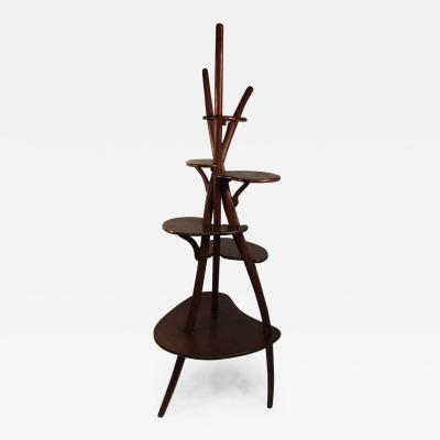 Wharton Esherick Organic Modern Sculptural Tiered Wood Stand