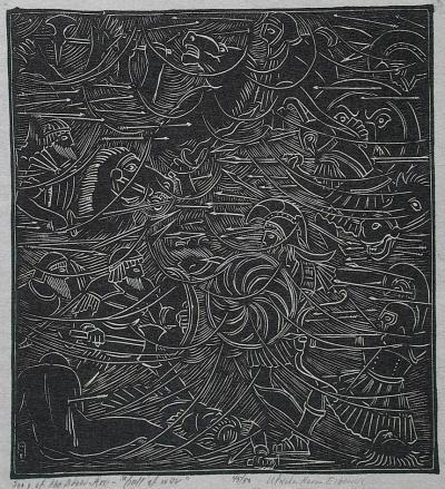 Wharton Esherick Song of the Broad Axe Hell of War 1924