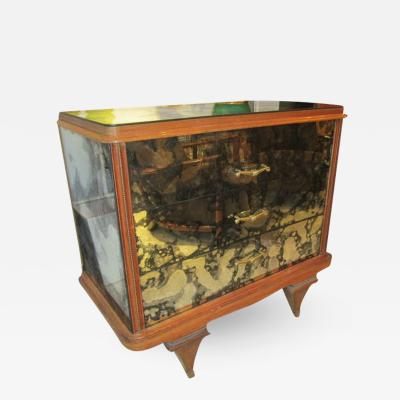 Whimsical Italian Mirrored Chest of Drawers